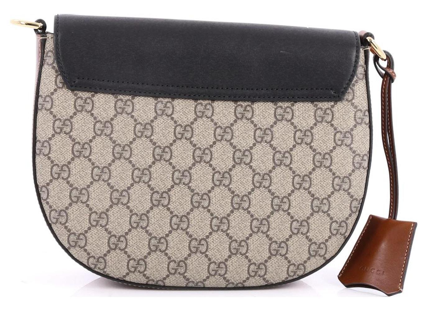 147363c5c Gucci Padlock Shoulder Bag Monogram GG Medium Tan/Black/Brown/Red