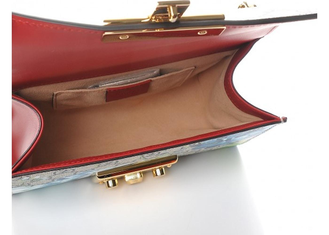 623d09260c4cc3 Gucci Padlock Shoulder Bag Blooms GG Supreme Small Blue/Red/Beige
