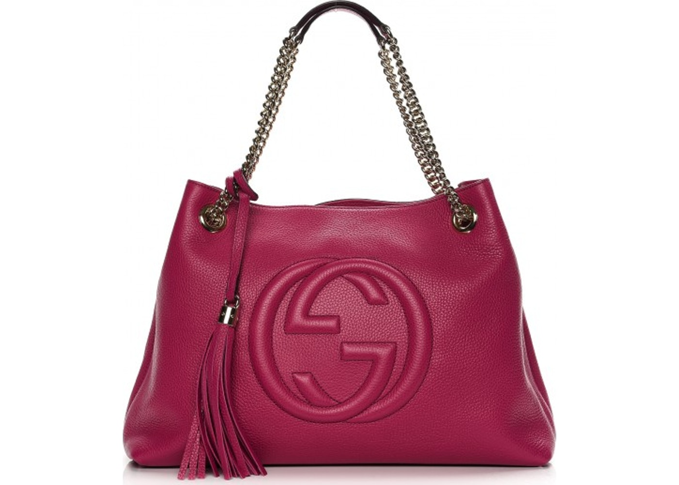 e3f51dbc01e Gucci Soho Chain Shoulder Bag Medium Dark Pink. Medium Dark Pink