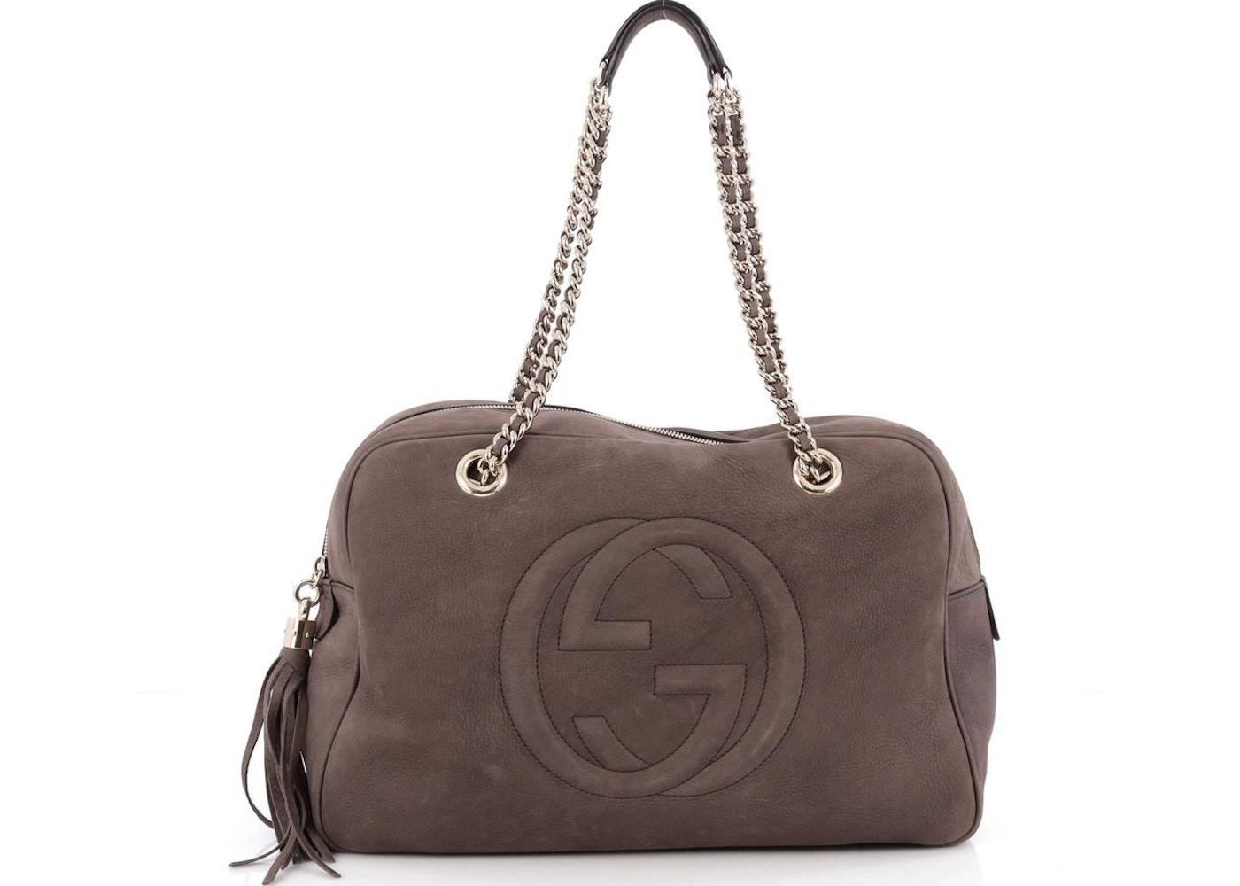 b02ce606e863 Gucci Soho Chain Zipped Shoulder Bag Medium Taupe. Medium Taupe