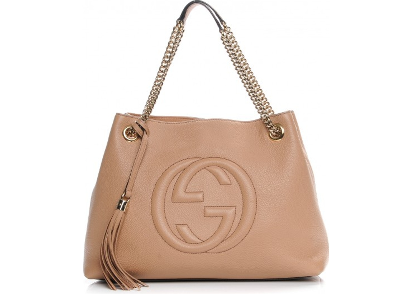 4db7bf42803 Gucci Soho Shoulder Bag Pebbled Medium Tan. Pebbled Medium Tan