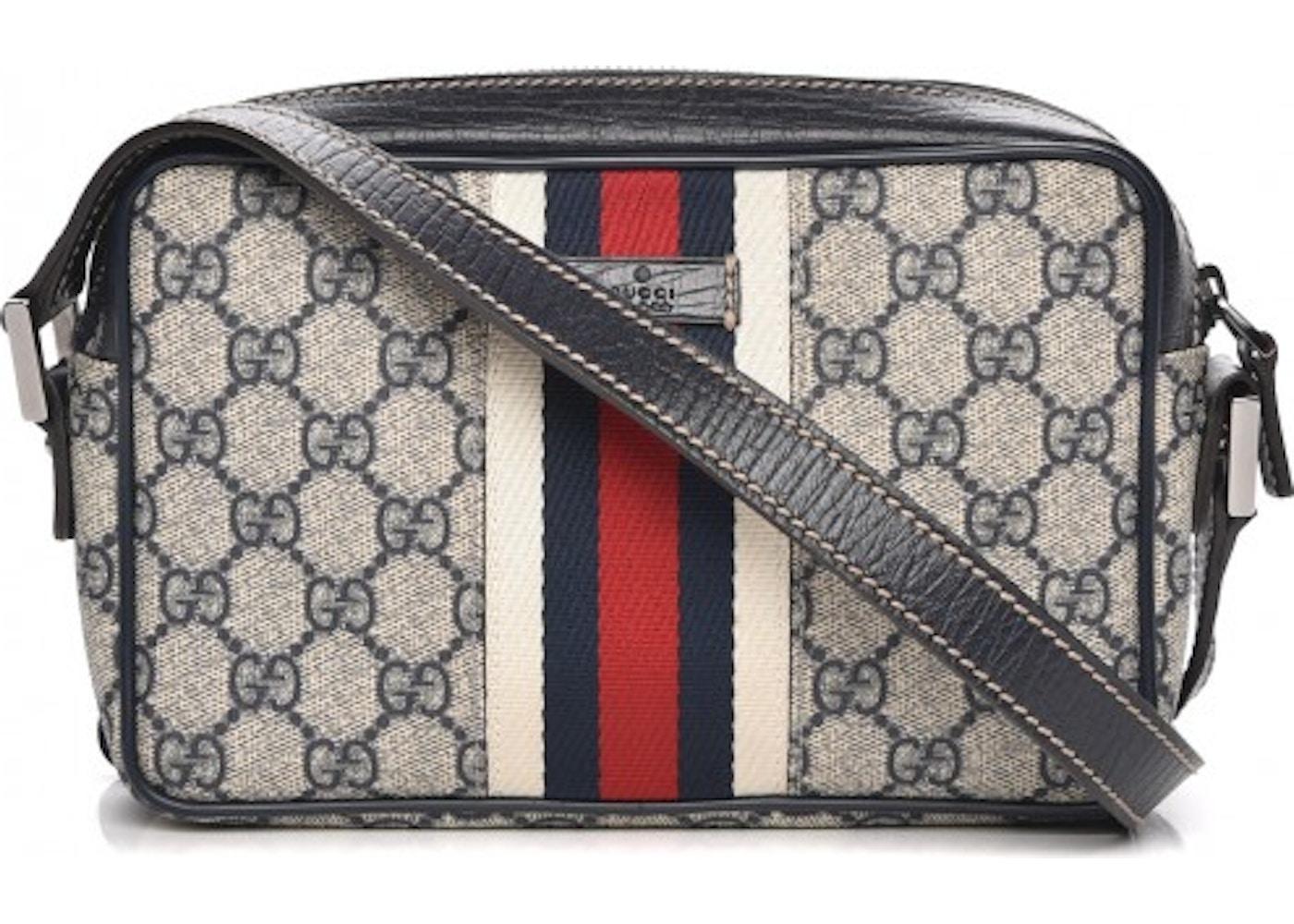 d32618633dc Gucci Vintage Web Shoulder Bag Monogram GG Small Navy Dark ...