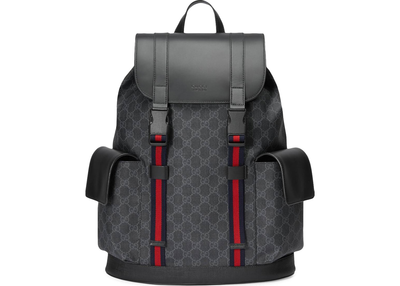 a20d2193629a Gucci Soft Backpack GG Supreme Blue/Red Web Black/Grey