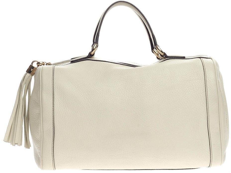 Gucci Soho Boston Bag Satchel  Cream