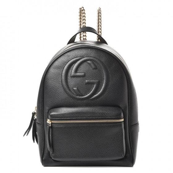 Gucci Soho Chain Backpack Black