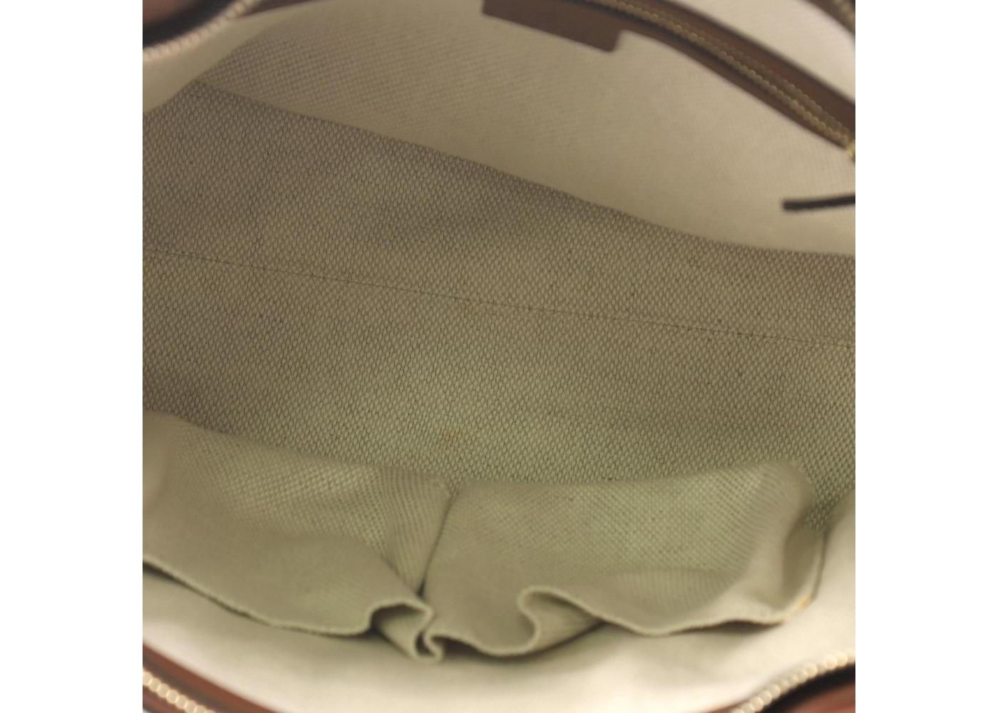 c523d5dcb26a Gucci Soho Convertible Top Handle Interlocking GG Logo Small Navy Blue/Brown