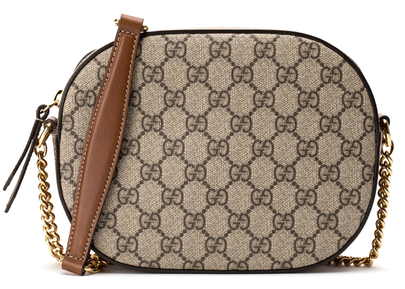 e6adc3d93b0 Gucci Crossbody Chain Bag GG Supreme Mini Brown. GG Supreme Mini Brown