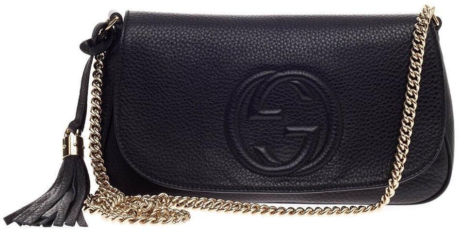 Gucci Soho Crossbody Chain Strap Medium Black