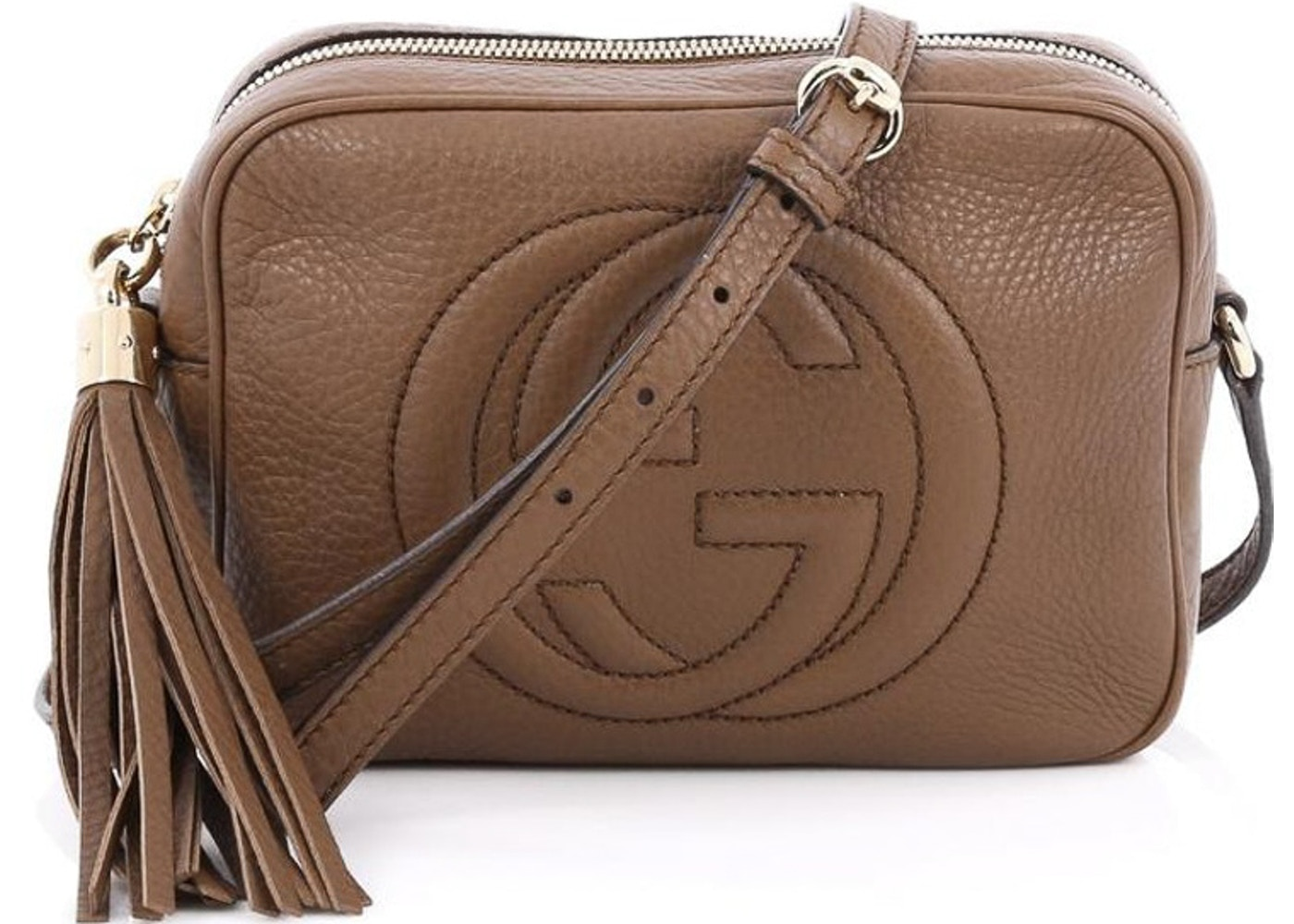 cd256062921 Gucci Soho Disco Crossbody GG GG Logo Small Dark Brown. GG GG Logo Small  Dark Brown