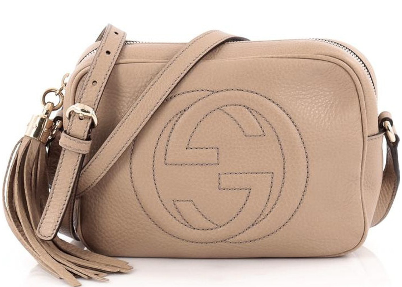 2fb7b1d41a7 Gucci Soho Disco Crossbody GG GG Logo Small Light Brown. GG GG Logo Small  Light Brown