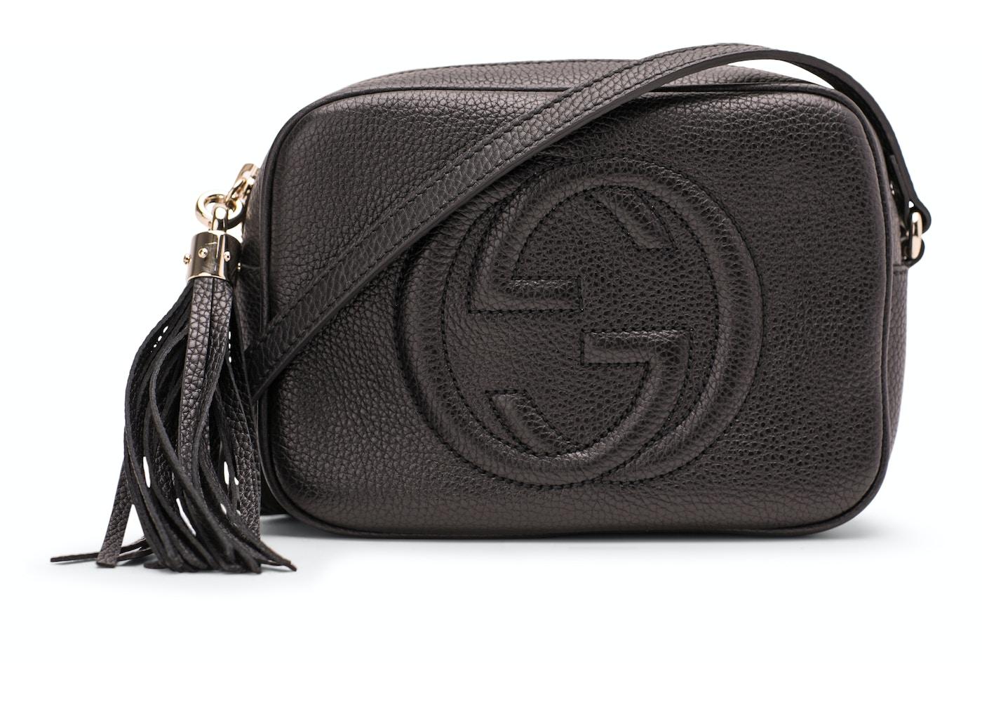 516781852634 Gucci Soho Disco Crossbody Leather Strap Small Black | StockX