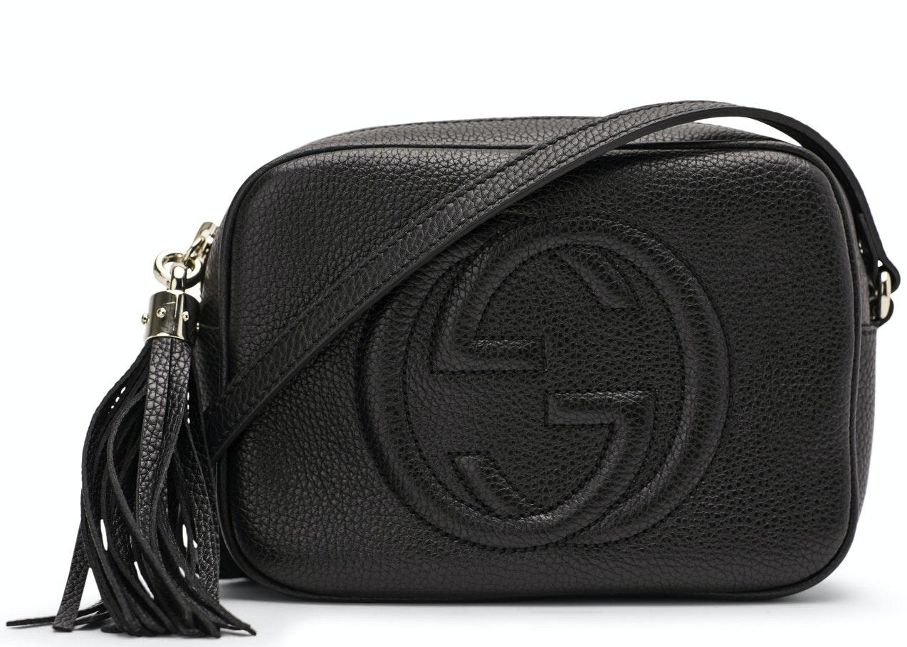Gucci Soho Disco Crossbody Leather Strap Small Black