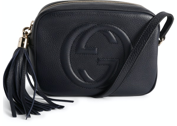 0b06f67e8 Gucci Soho Disco Leather Small Navy Blue