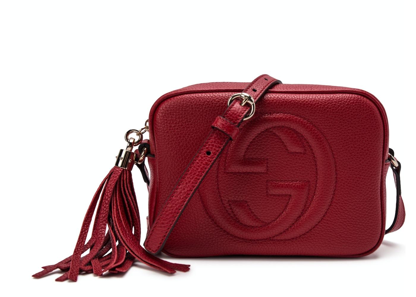 Gucci Soho Disco Crossbody Small Red. Small Red 584fa369d6