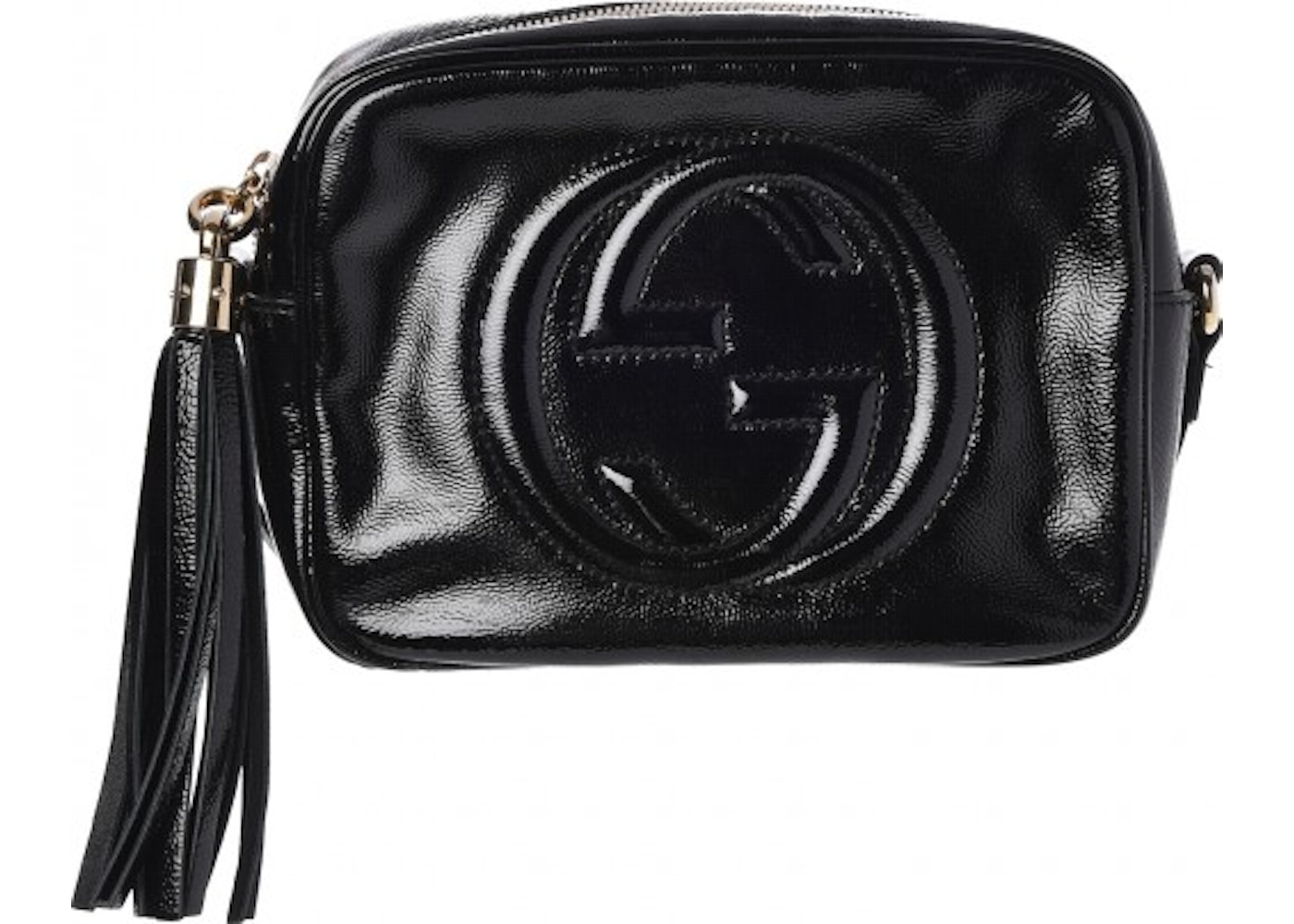 fd6370169adf Gucci Soho Disco Patent Leather Small Black
