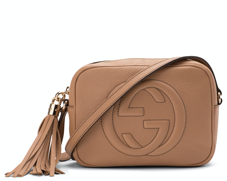 Gucci Disco Soho GG Interlocking GG Logo Small Rose Beige