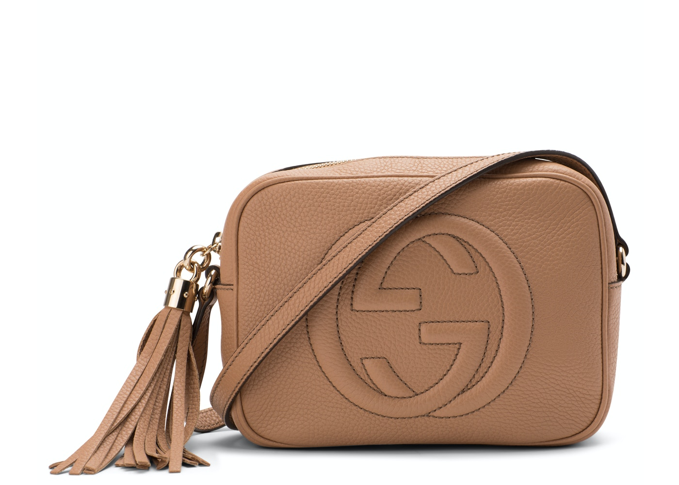 55932125919 Gucci Soho Disco Leather Small Rose Beige