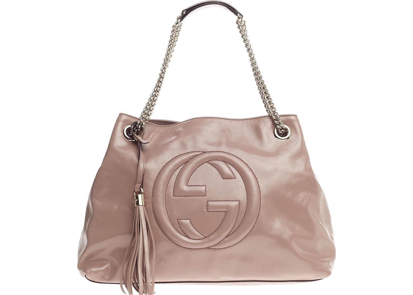 660b57f1a Gucci Soho Chain Strap Shoulder GG Interlocking Gucci Logo ...