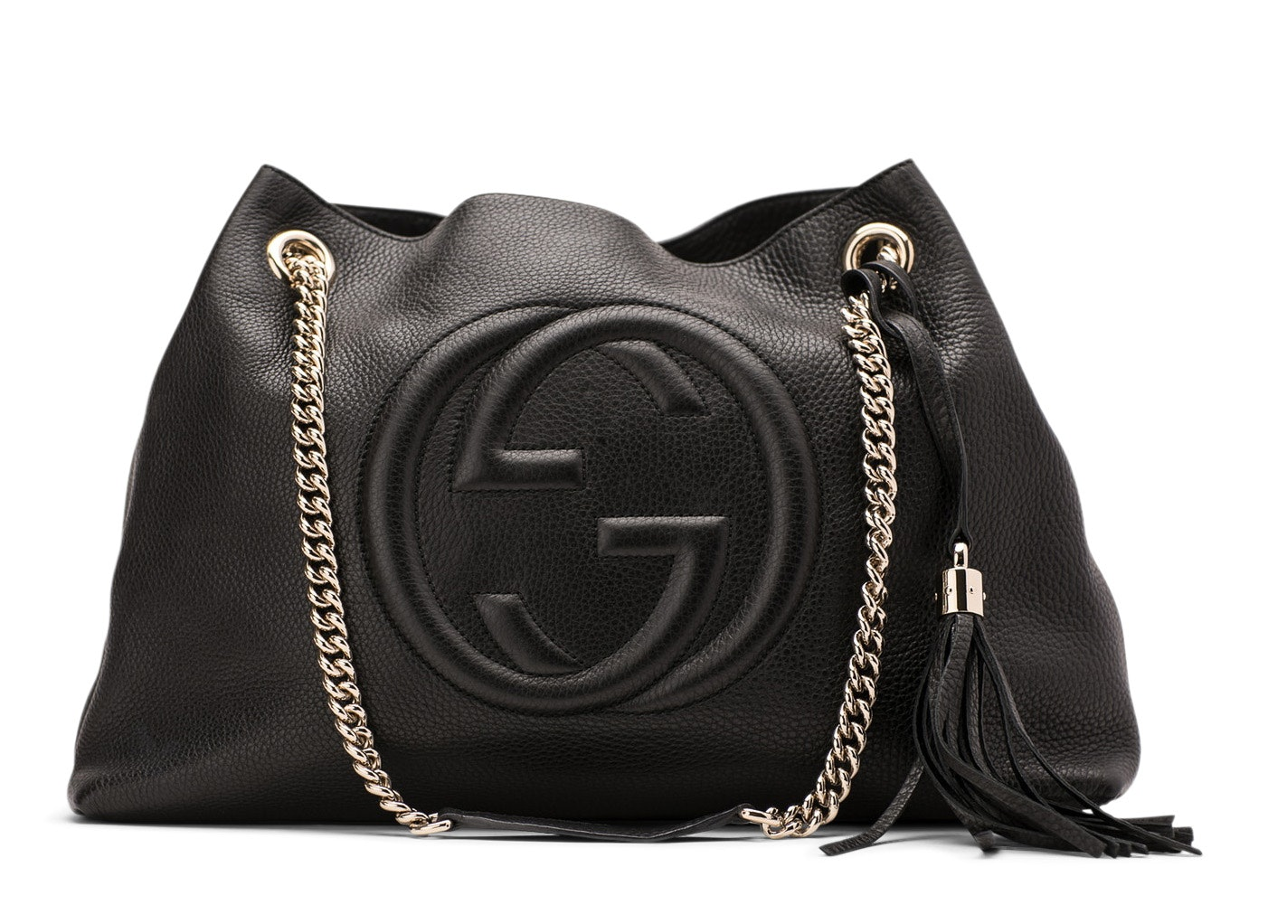 Gucci Soho  Shoulder Bag GG Interlocking G Medium Black
