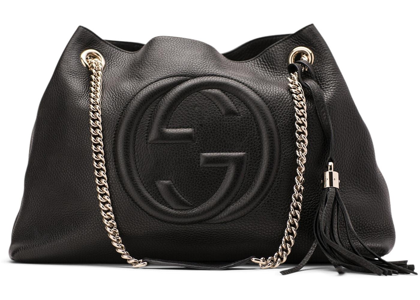 5af69de2 Gucci Soho Shoulder Bag Chain Strap Medium Black