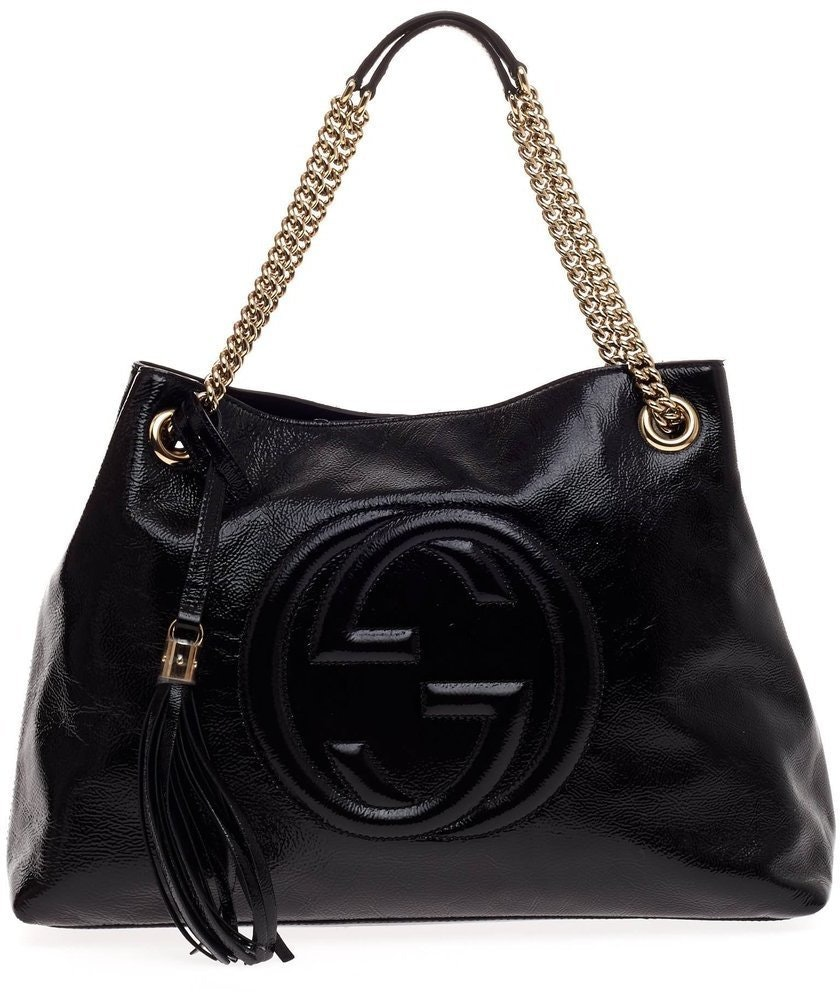 Gucci Soho Shoulder Chain Strap Medium Black