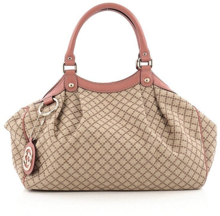 Gucci Sukey Tote Diamante Medium Brown
