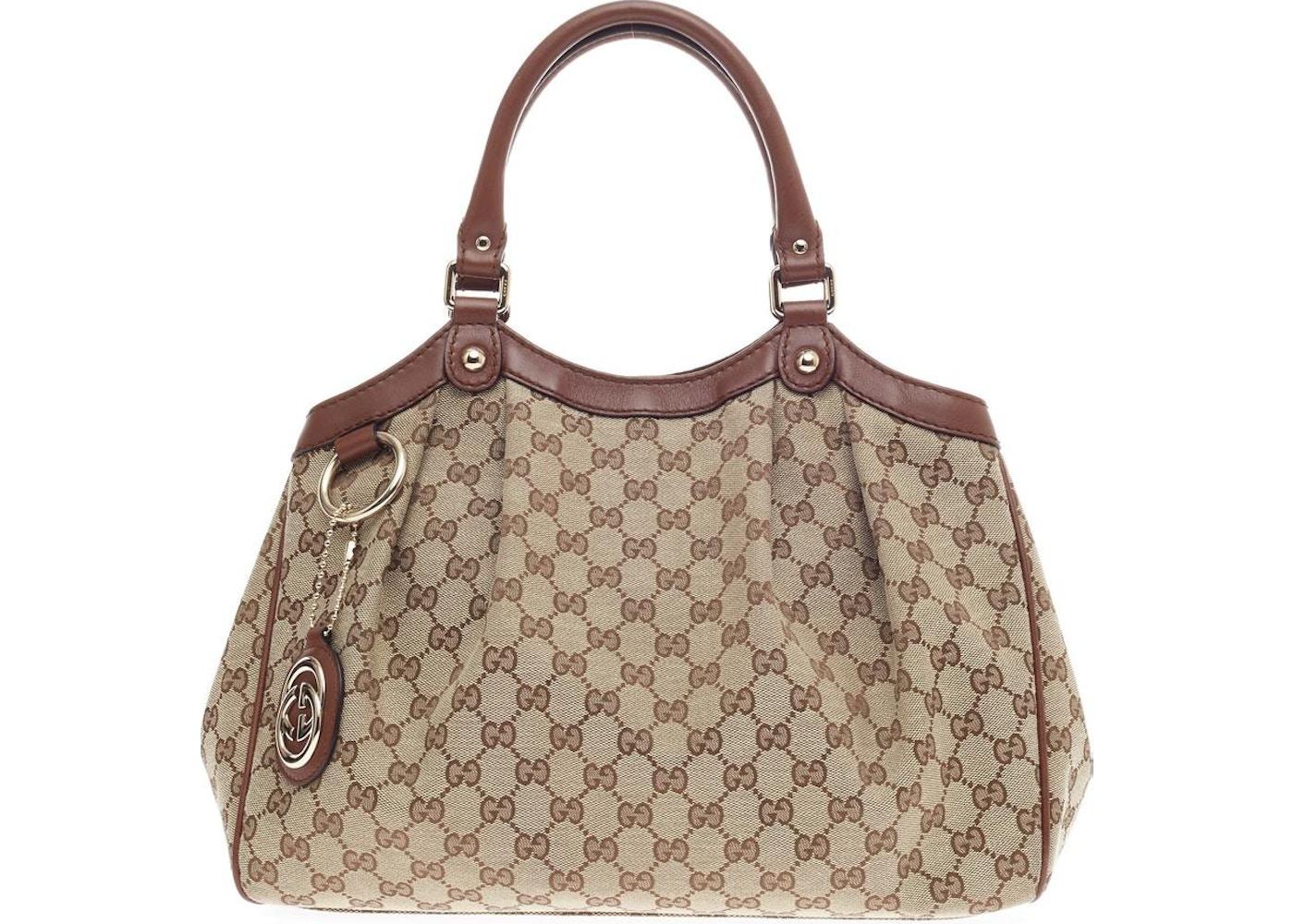 3f196cb18dc Gucci Sukey Tote GG GG Leather Charm Medium Brown. GG GG Leather Charm Medium  Brown