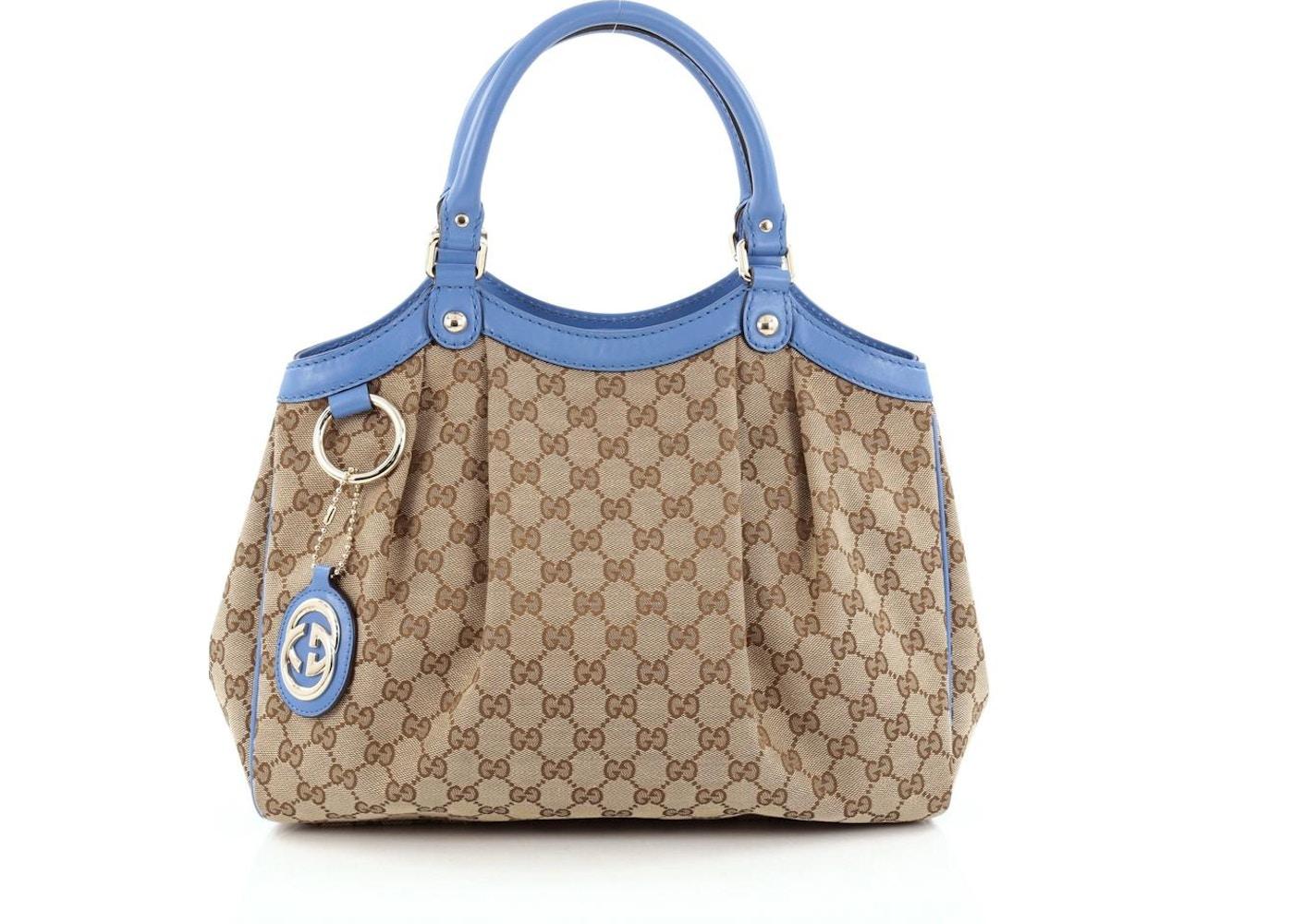 6e3f3b8618e Gucci Sukey Tote GG Monogram GG Leather Charm Medium Brown ...