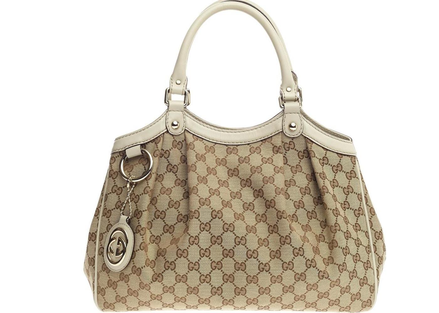 73d3f462aff Gucci Sukey Tote GG Monogram GG Leather Charm Medium Brown ...
