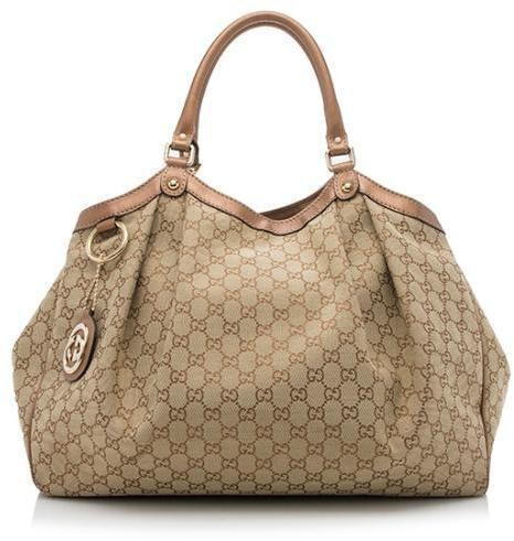 Gucci Sukey Tote GG Large Brown