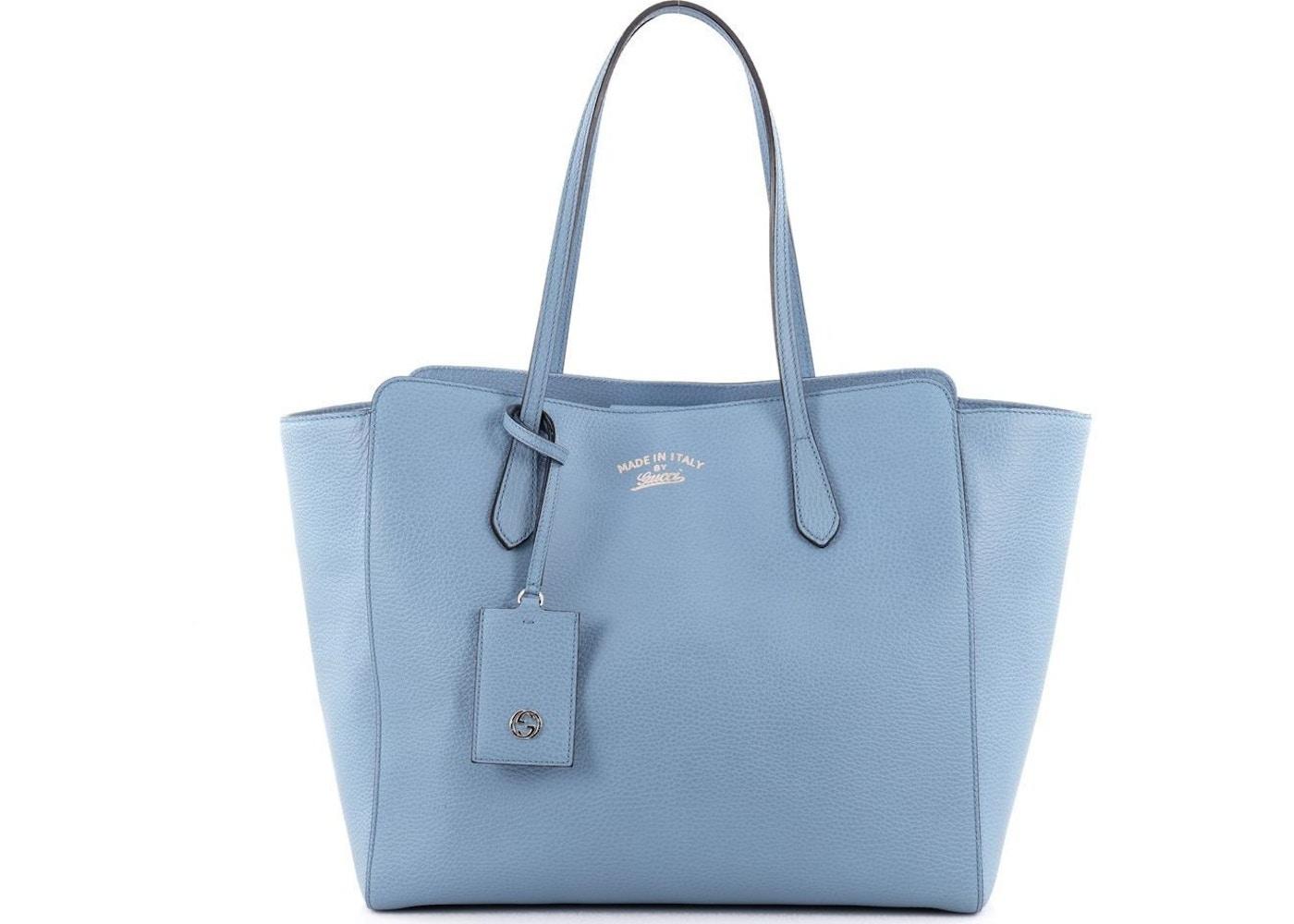 8b43d5cab100 Gucci Swing Tote Medium Blue. Medium Blue