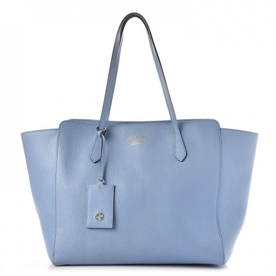 Gucci Swing Tote Medium Mineral Blue