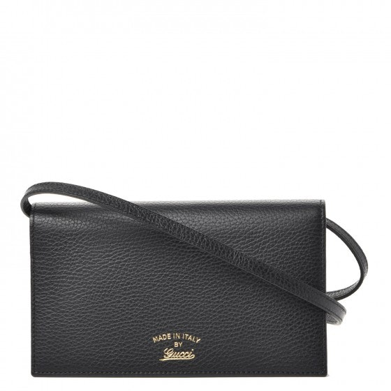 Gucci Swing Wallet Grained Mini Black