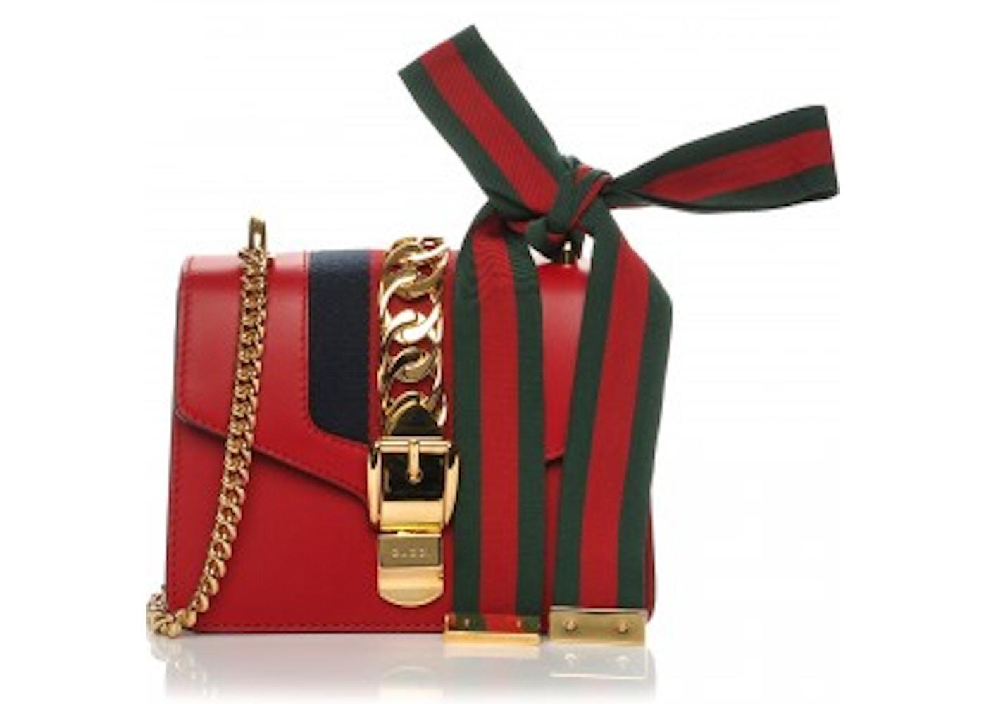 28c5df22a27e Gucci Sylvie Hibiscus GG Web Stripe Mini Red/Blue/Green