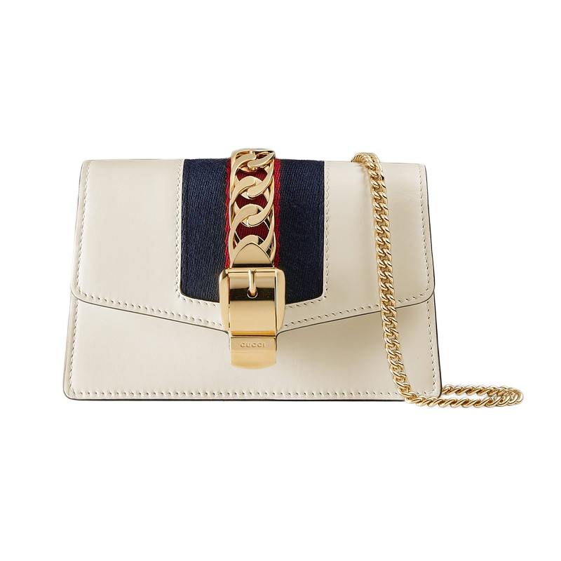 Gucci Sylvie Chain Mini White
