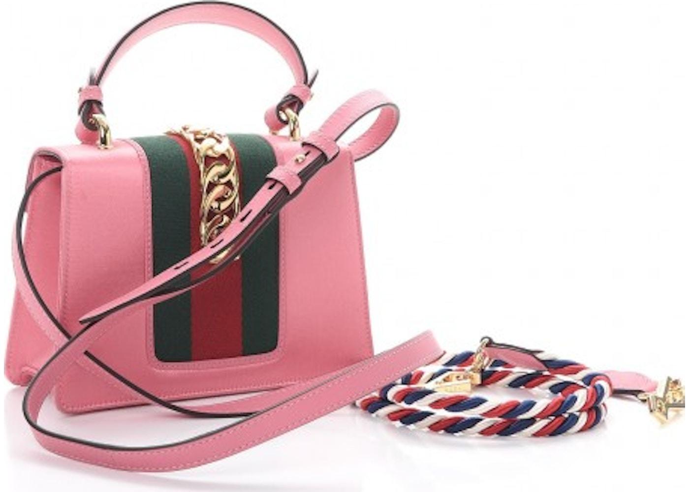 218fa86276f Gucci Sylvie Flap Crystal Web Mini Peony
