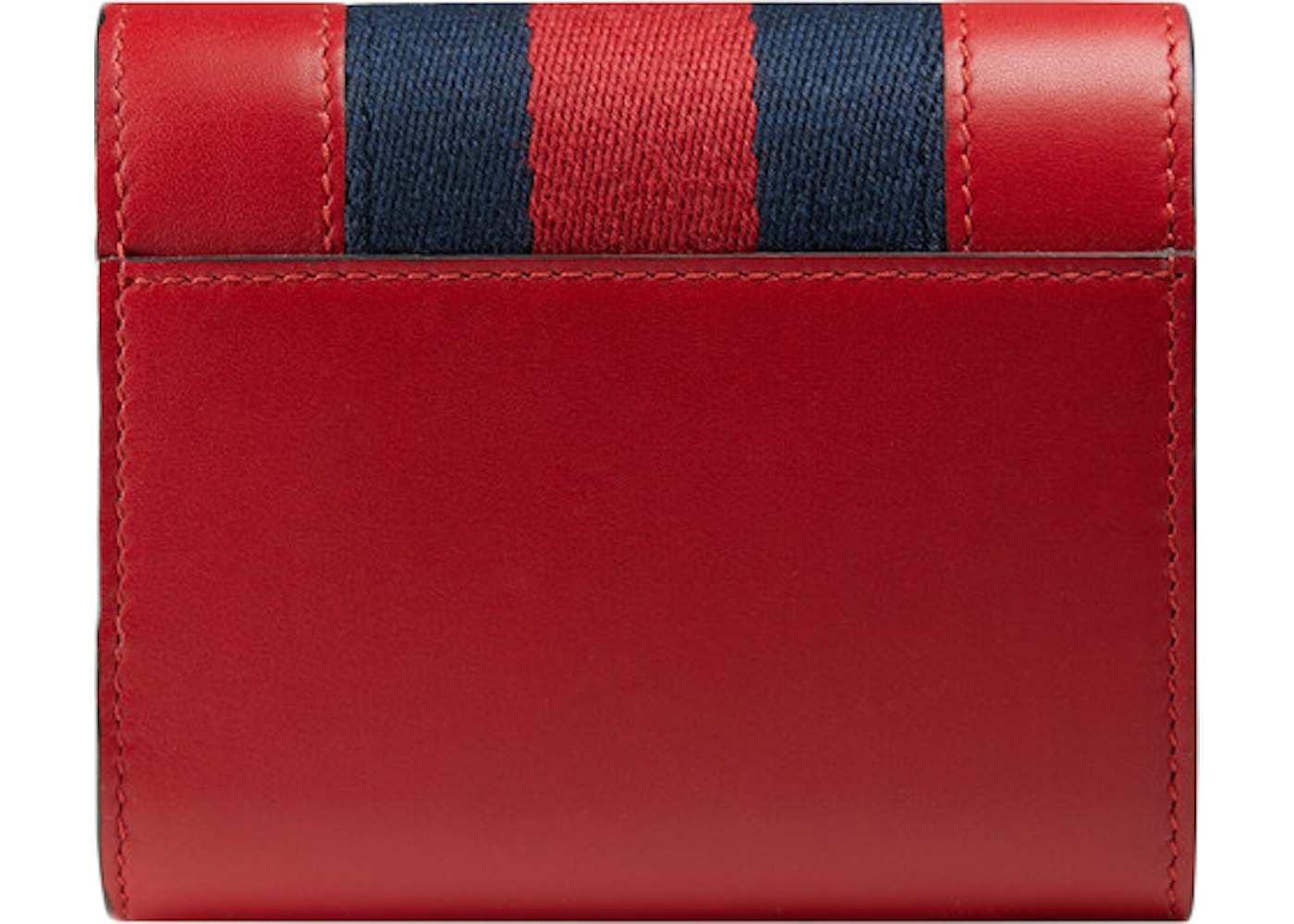 ae60080863bd Gucci Sylvie Wallet Hibiscus Red