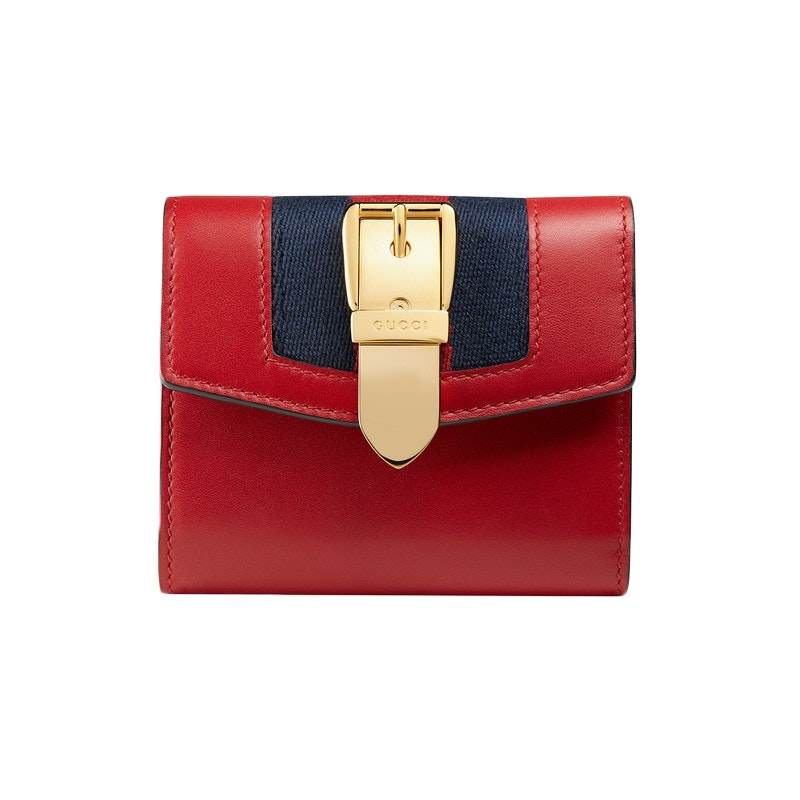 Gucci Sylvie Wallet Hibiscus Red