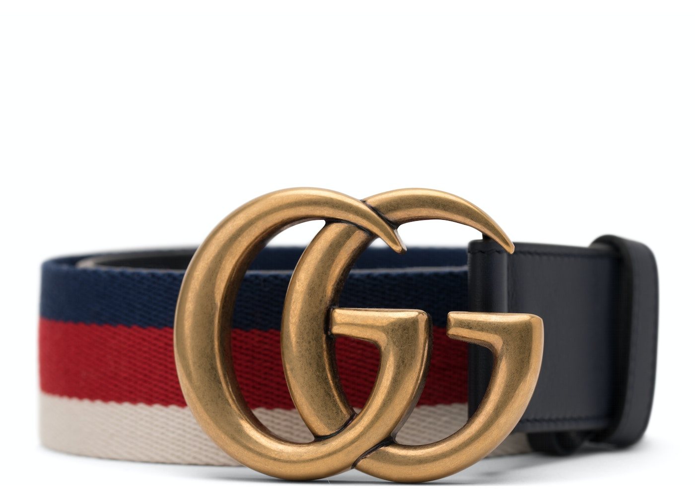 6e27eb23d Gucci Sylvie Web Belt Double G Buckle 70 Red White Blue Black