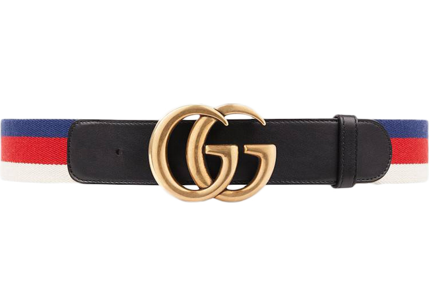 f78651a67fe Gucci Sylvie Web Belt Double G Buckle Red White Blue Black