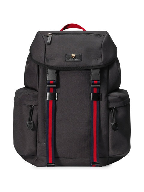 Gucci Techno Backpack Web Drawstring Black