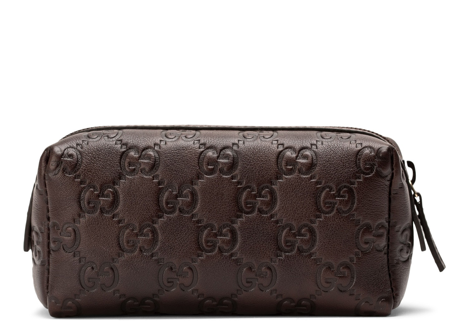 Gucci Toiletry Case Guccissima Small Brown