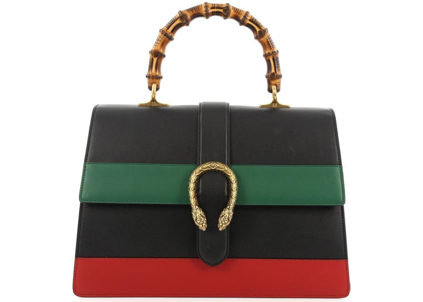 e3eda8b06fe6 Gucci Dionysus Bamboo Top Handle GG Large Black/Green/Red