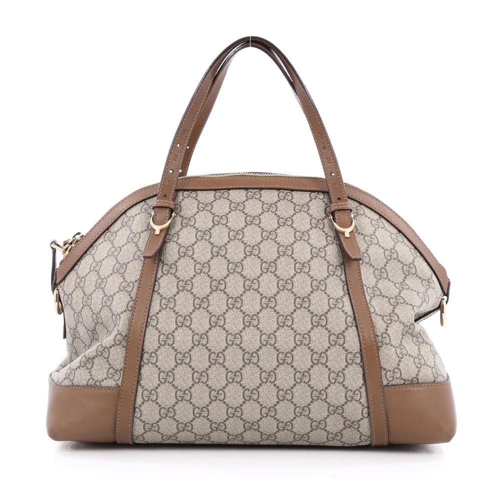 Gucci Nice Top Handle GG Monogram Large Brown