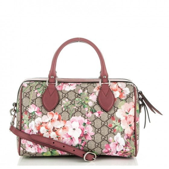Gucci Top Handle GG Supreme Blooms Small Antique Rose