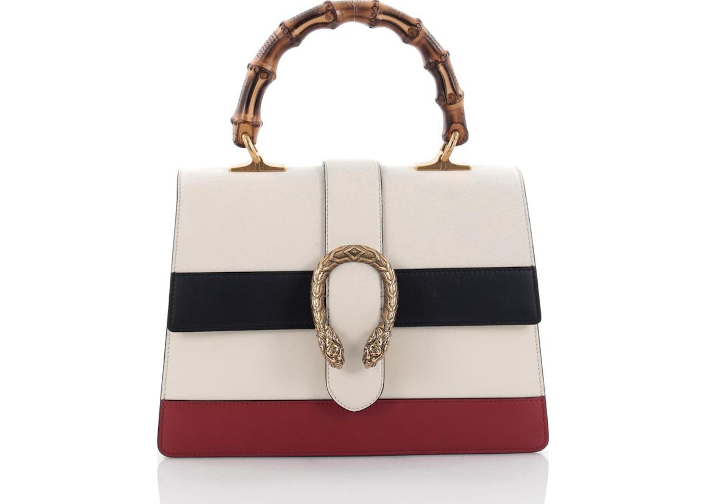 ca52c46af472 Gucci Dionysus Bamboo Top Handle Medium White/Blue/Red ...