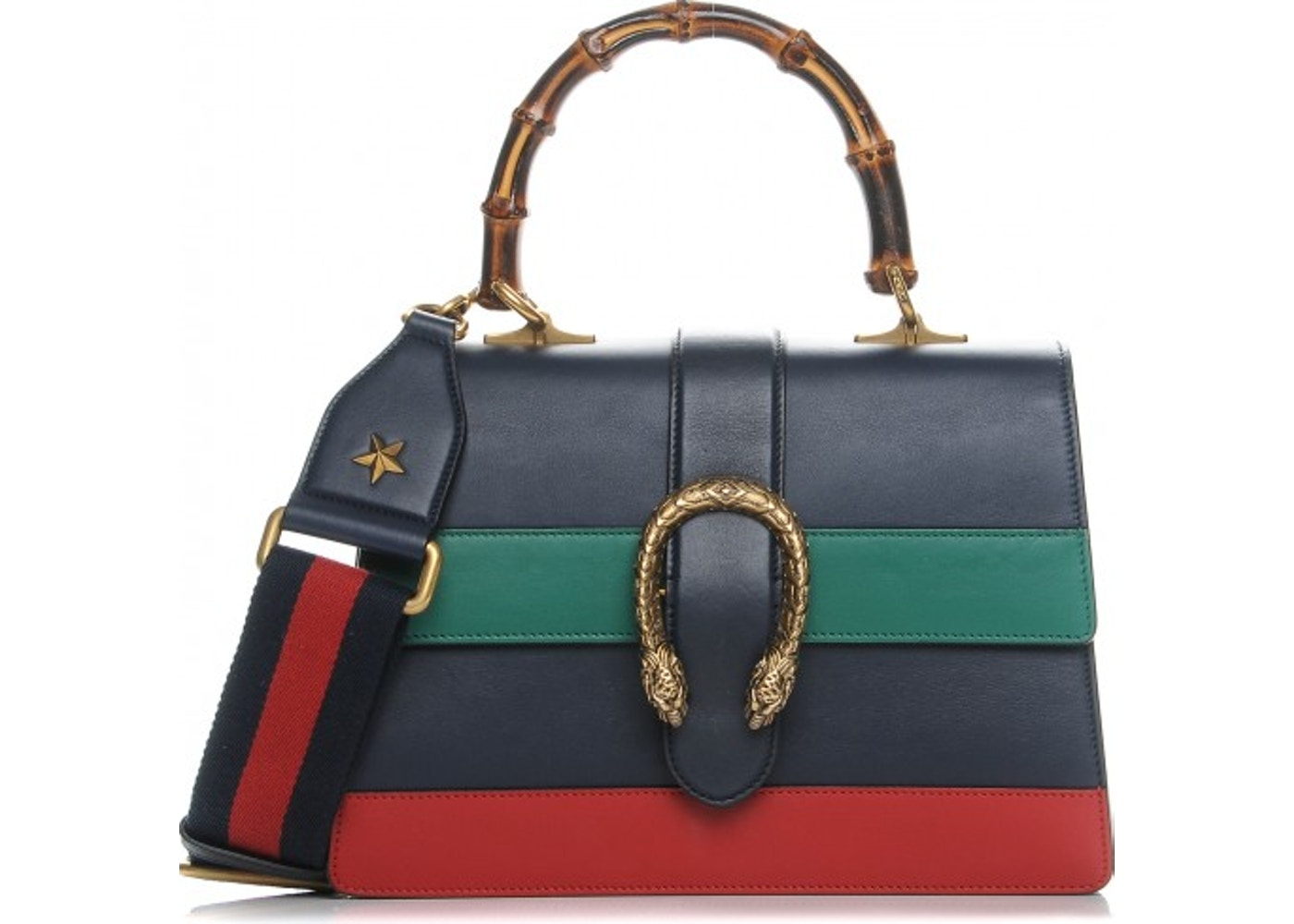 a4b4b45e4ca8 Gucci Dionysus Top Handle Medium Navy Blue/Green/Red. Medium Navy Blue/Green /Red