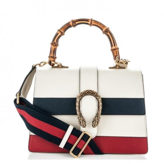 Gucci Dionysus Top Handle Medium White/Blue/Red