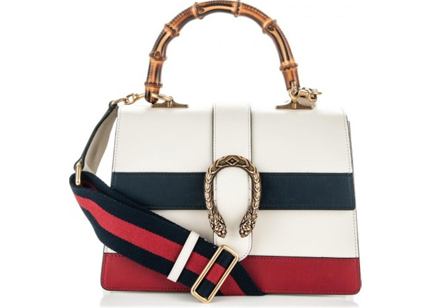 94e4abaf8c32 Gucci Dionysus Top Handle Medium White/Blue/Red. Medium White/Blue/Red