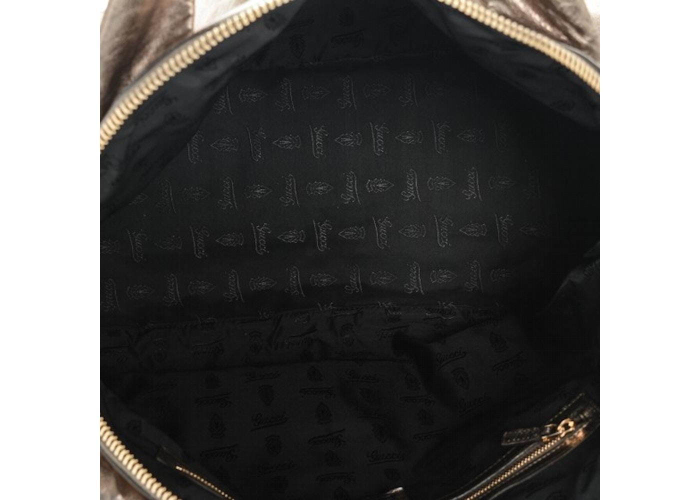 b8ef9712586 Gucci Hysteria Top Handle Medium Metallic Gold
